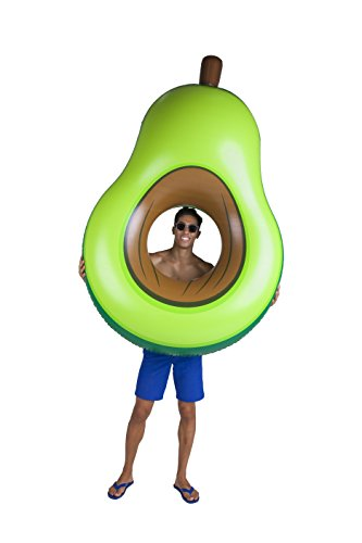 BigMouth Inc Giant Avocado Pool Float, Funny Inflatable Vinyl Summer Pool or Beach Toy, Patch Kit Included