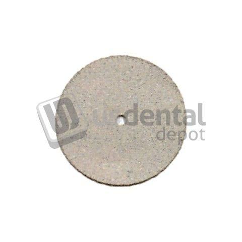 KEYSTONE - KNIFE EDGE Rubber Polishing Wheels White - 22mm - 100box - Non contaminating for porcelain ceramic porcelana - (Filo de cuchillo) (goma) K# 1900995 034-1900995 Us Dental Depot