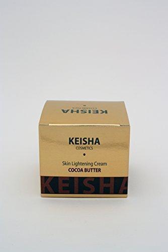 Keisha Cosmetics Creme Eclaircissante Skin Lightening Whitening Brightening Bleaching Fair & White Intensive Brightening Cocoa Butter Cream 100ml - For Face - DAY WHITENING CREAM by Keisha Cosmetics (Eclaircissant Lightening)