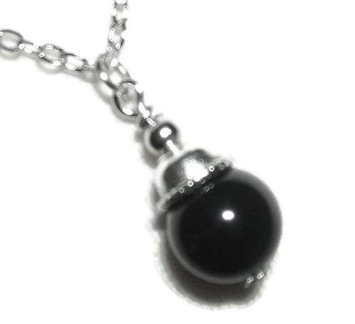 - BLACK OBSIDIAN NECKLACE Silver Plt GENUINE SEMI PRECIOUS GEMSTONE Metaphysical NEGATIVITY PROTECTION TRUTH PROPHECY