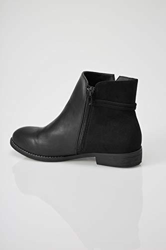Bottines Wide Yours Fit Femmes En Lacets Eee True Black Pour Clothing qtFHFxA