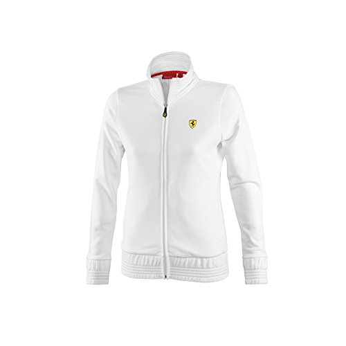 Ferrari Women's Zip Up Jacket, White, - White Jacket Ferrari