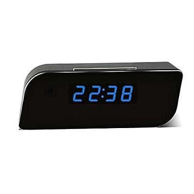 MEAUOTOU Hidden Camera Wireless IP Security Camera Alarm Clock 1080P HD Live Stream Video with Motion Detection Alarm, Spy Camera, Black