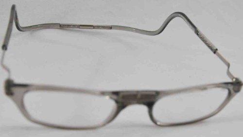 CliC Magnetic Closure Reading Glasses XXL with Adjustable Headband Smoke 3.00
