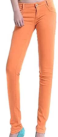VonFon Womens Skinny Elastic Stretchy Jeans Jeggings Pencil Pants 20 Candy Color