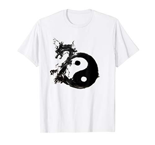 Tai Chi Dragon Dark Water Ink Mixed Martial Art Gift T-Shirt
