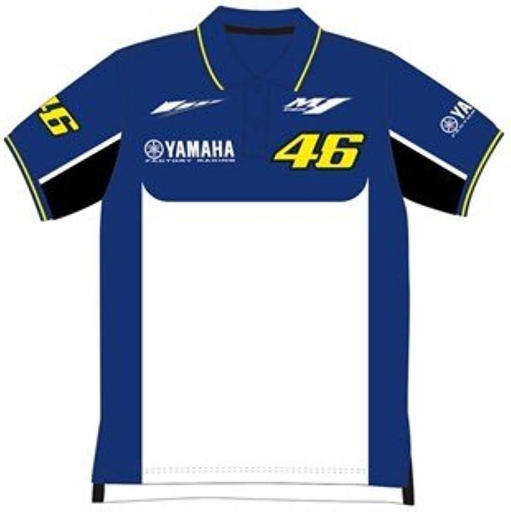 Nuevo. 2016 Rossi Yamaha polo para hombre, color azul/amarillo ...