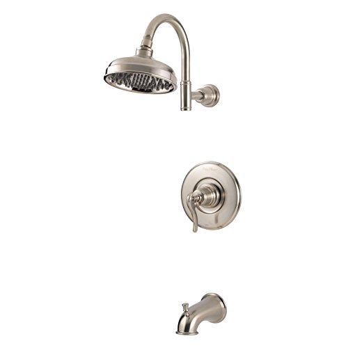 Ashfield Tub (Pfister G89-8YPK Ashfield 1-Handle Tub & Shower Trim in Brushed Nickel, 2.0gpm)