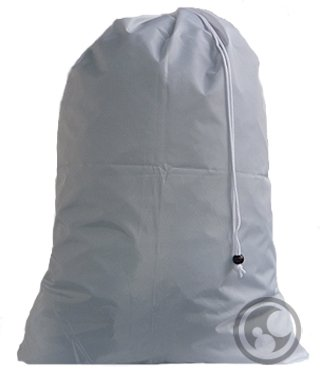 UPC 639713591668, Large Laundry Bag with Drawstring and Locking Closure - Color: Silver,Size: 30x40