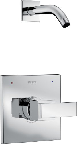 Delta Faucet Ara 14 Series Single-Function Shower Trim Kit, Chrome T14267-LHD (Valve and Shower Head Not - Kit Handle X-square