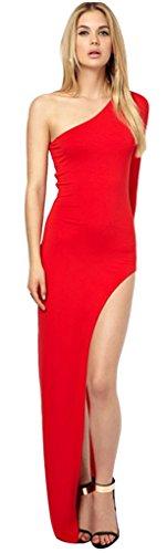 Rot Damen Drasawee One Rot Shoulder Kleid dwTTxrqX
