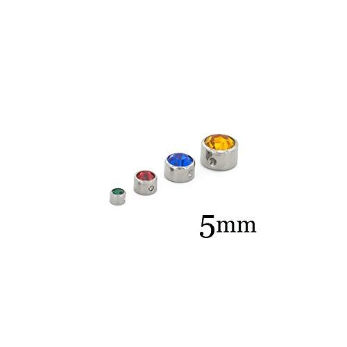 Painful Pleasures Titanium Jeweled Replacement Bead Ring 5mm - Smoke Diamond ()