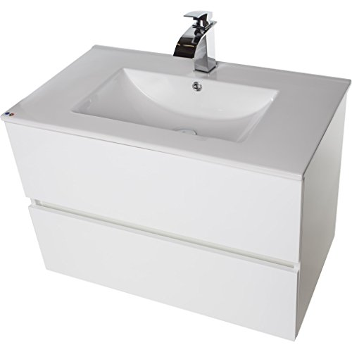 Surf Wall Mounted Bathroom Vanity Cabinet Set Bath Furniture With Single Sink (White, 32 in.)