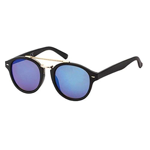 Chic-Net Gafas de sol de metal Panto 400 UV puente doble ...