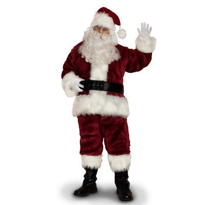 (Sunnywood Men's Supreme Santa Claus Suit, Burgandy/White, X-Large)