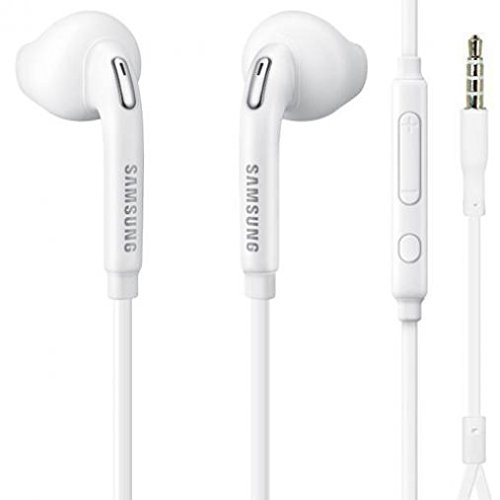 Galaxy J7 Compatible Headset 3.5mm Hands-Free Earphones Mic Dual Earbuds Headphones Earpieces in-Ear Stereo Wired White