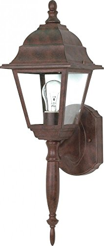 (Nuvo Lighting 60/541 One Light Lantern Outdoor Wall Mount, Old Bronze)