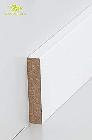 Hauteur 7cm finition carr/é, 8 ml diff/érentes dimensions et finitions Plinthe en m/édium pr/épeinte blanche de tr/ès grande qualit/é fabrication FRANCAISE