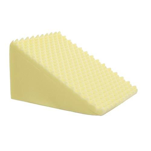 Travesseiro Triangular com Capa Malha 100% Algodão Encosto Almofada Anti Varizes Anti Refluxo BF Colchões