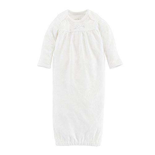 Shoulder Gown Lap - Under the Nile Baby Lap Shoulder Gown with Stork Embroidery - 0-3m