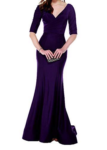 Lang Damen Abendkleider Fuer Brautmutterkleider Hochzeits Partykleider Traube Mutterkleider Figurbetont Charmant Elegant 6axwS6
