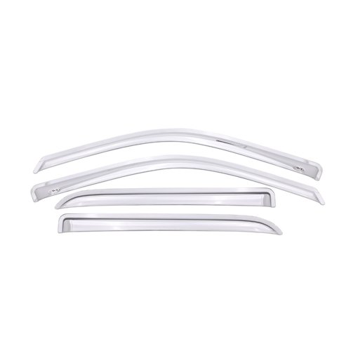 Auto Ventshade 684109 Chrome Ventvisor Side Window Deflector, 4-Piece Set for 2009-2018 Dodge Ram 1500 w/Crew Cab, 2010-2018 Ram 2500 & 3500 w/Crew & Mega Cab; 2019 Ram 1500 Classic Crew Cab