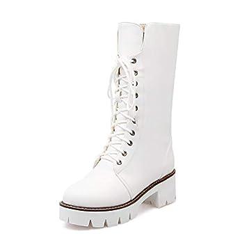 venta al por mayor recoger Amazonas HRCxue Zapatos de la Corte Botas Blancas con Cordones ...