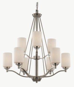 Trans Globe Lighting 70529 BN  9-Light Chandelier, Brushed Nickel