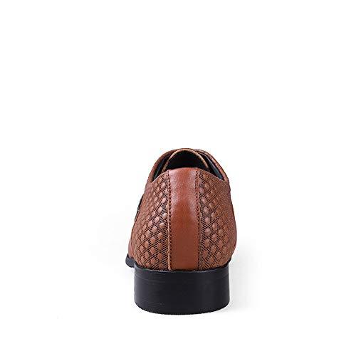 Oxford di da Allenamento Cricket Scarpe Grandi Casual Light da Business Classics Brown Men's Morbida con e Morbida Scarpe Punta Dimensioni gw4x5nqA