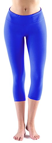 Royal Blue Womens Capris (LMB Yoga Pants - Capri Leggings ,Royal Blue,X-Large)