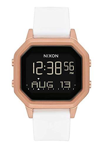 NIXON Siren SS A1211 - Rose Gold/Black - 100m Water Resistant Women's Digital Sport Watch (36mm Watch Face, 18mm-16mm Stainless Steel Band)