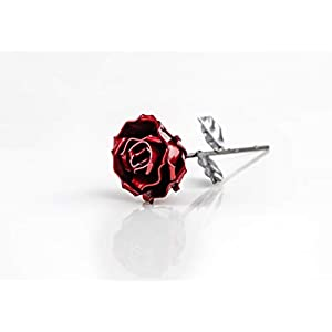 """♥ Eternal Rose Hand-Forged Wrought Iron""""Ideal gift fo Valentine's Day, Girlfriend, Mother's Day, Couple, Birthday, Christmas, Wedding Day, Anniversary Gift, Decor, Indoor"""" 1"""
