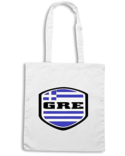 Speed Shirt Borsa Shopper Bianca WC0067 GREECE