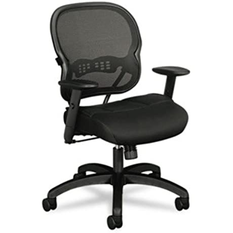 BSXVL712MM10 UNITED STATIONERS OP CHAIR MIDBCK MESH SEAT BK
