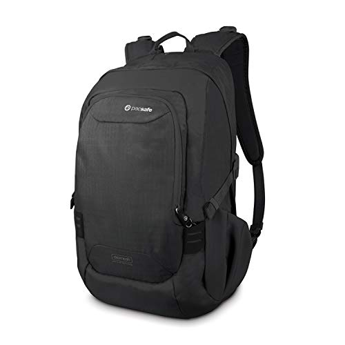 Pacsafe Luggage Backpack/Daypack-Navy Blue, 25 Liter Venturesafe 25L GII Anti-Theft Travel Pack, Color: Black (60300100)