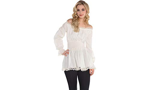 White Midieval Blouse - Adult -