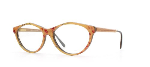 GOLD & WOOD - Monture de lunettes - Femme Jaune Yellow Orange Pink