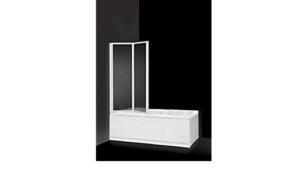 Box sopravasca, dos puertas PLEGABLES Acrílico y Aluminio Blanco ...