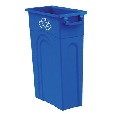 United Solutions TI0033 Highboy Recycling Container In Blue, 23 Gallon, Slim Fit Wastebasket