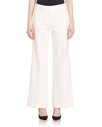 3.1 Phillip Lim  Womens Cuffed Wide-Leg Trouser, 4 White (Trousers Lim 3.1 Phillip)