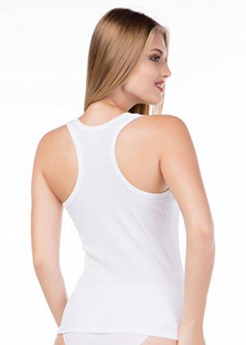 stylenmore - Camiseta sin mangas - para mujer blanco
