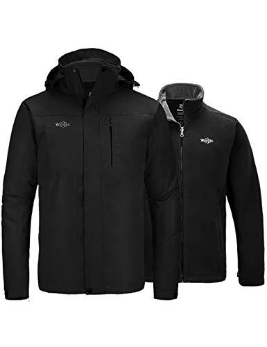 Wantdo Men's 3 in 1 Hooded Ski Jacket Warm Snow Winter Parka Coat Windbreaker