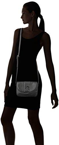 Tous Pequeña Alfa de Piel, Bolso Bandolera para Mujer, Negro (Black), 7x15x22 cm (W x H x L)