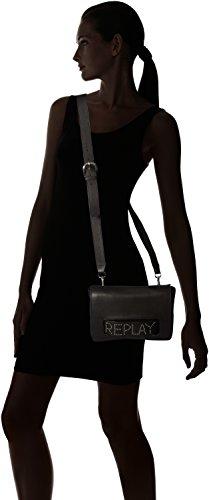 REPLAY Fw3737.000.a3127 - Borse a spalla Donna, Nero (Black), 4x16x23 cm (B x H T)