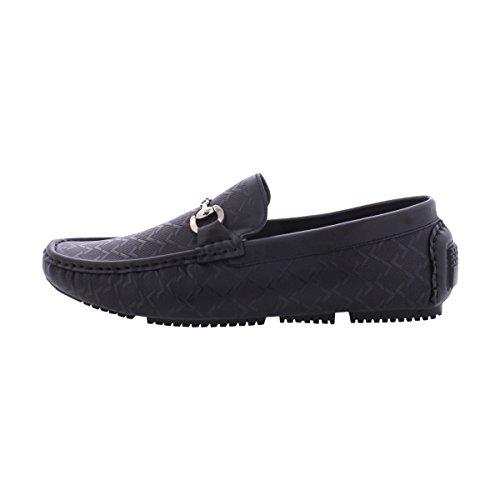 ec07dae9e5108 50%OFF Faranzi- Men's Moc Buckle Driving/Loafer Shoes - Black ...