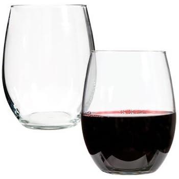 Luminarc Stemless Wine Glasses, 21 Oz.