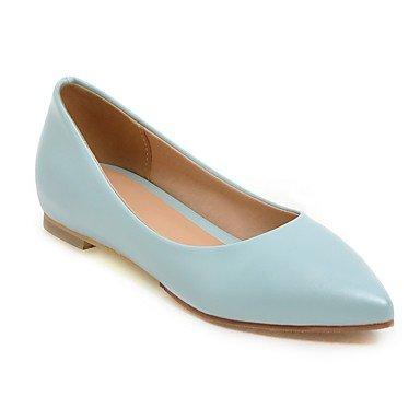 Cómodo y elegante soporte de zapatos de las mujeres pisos primavera verano Casual de piel sintética comodidad plana talón otros negro azul rosa rojo blanco Beige Walking negro