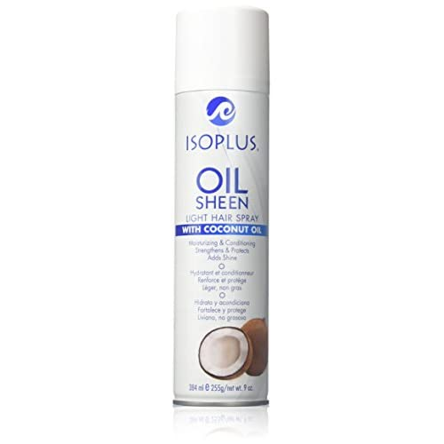 Isoplus Oil Sheen Light Spray Coconut Oil, 9 Ounce