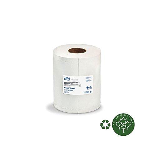 SCA Tork Advanced Regular Capacity Centerpull Hand Towel Roll, 2-Ply, White, 9'' x 11.8'',600 Sheets/Roll, 6 Rolls Per Case