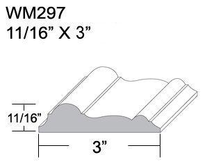 Flexible Moulding   Flexible Chair Rail Moulding   WM297   11/16u0026quot; X  3u0026quot